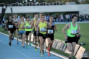 Hanging onto the field at the Melbourne Track Classic - 14.04 PB!