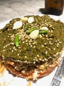 """""""Lahpet"""" - delicious fermented tea leaf salad. I LOVED this."""