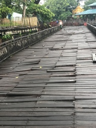 Treacherous wooden decking. Did not attempt running on this.